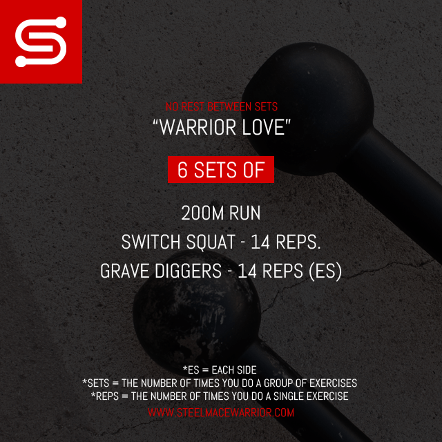 Steel Mace Workout for Valentines Day