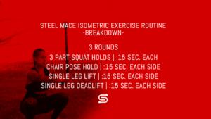 Steel Mace Isometric Workout