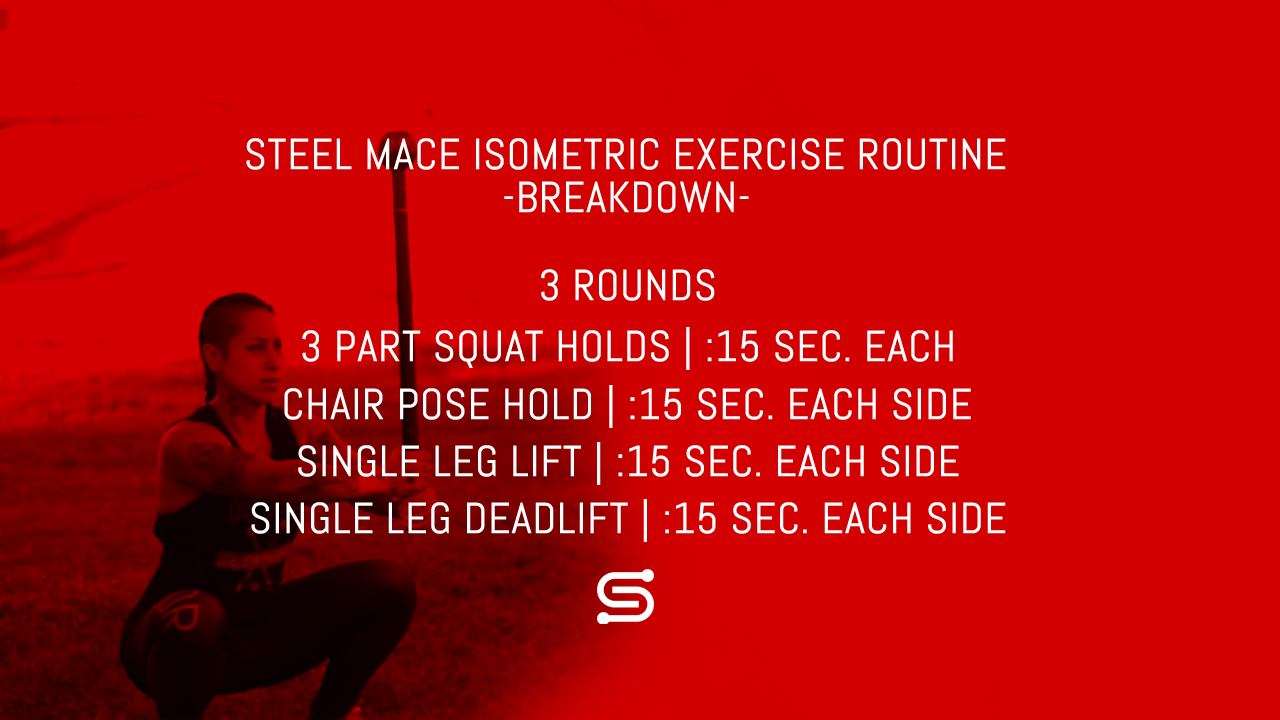 Steel Mace Isometric Workout