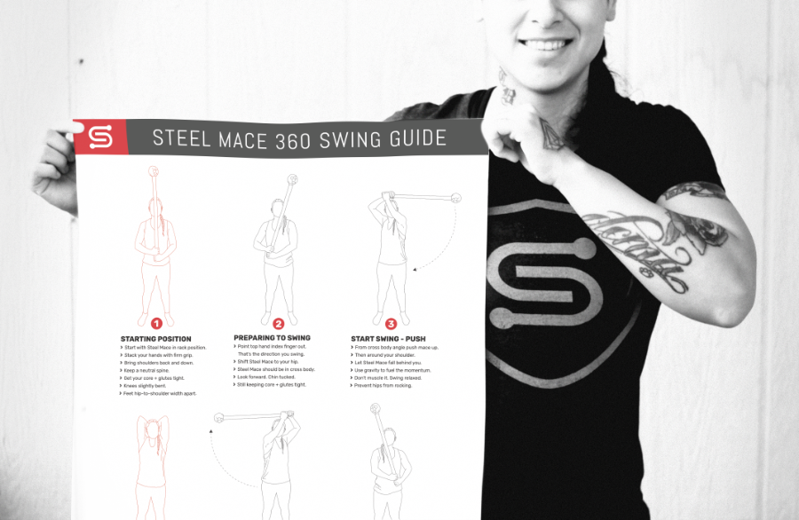 Steel Mace Warrior - 360 Swing Poster - 900px -2